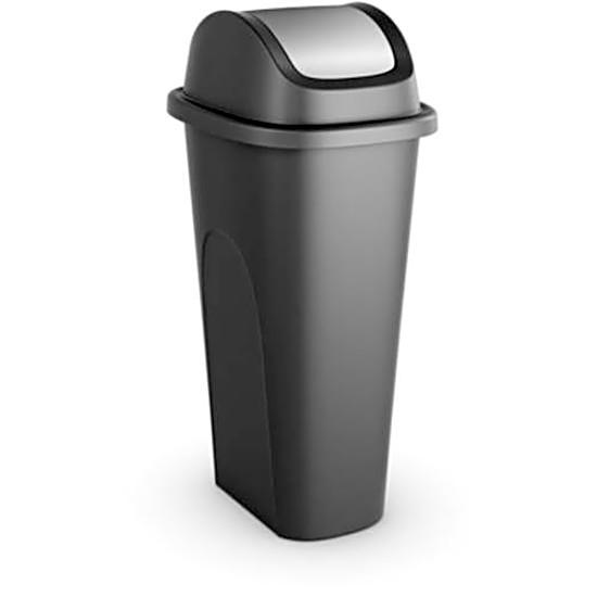 Plastic 11 Gallon Kitchen Trashcan Garbage Waste Bin Lid Slim Office  Wastebasket