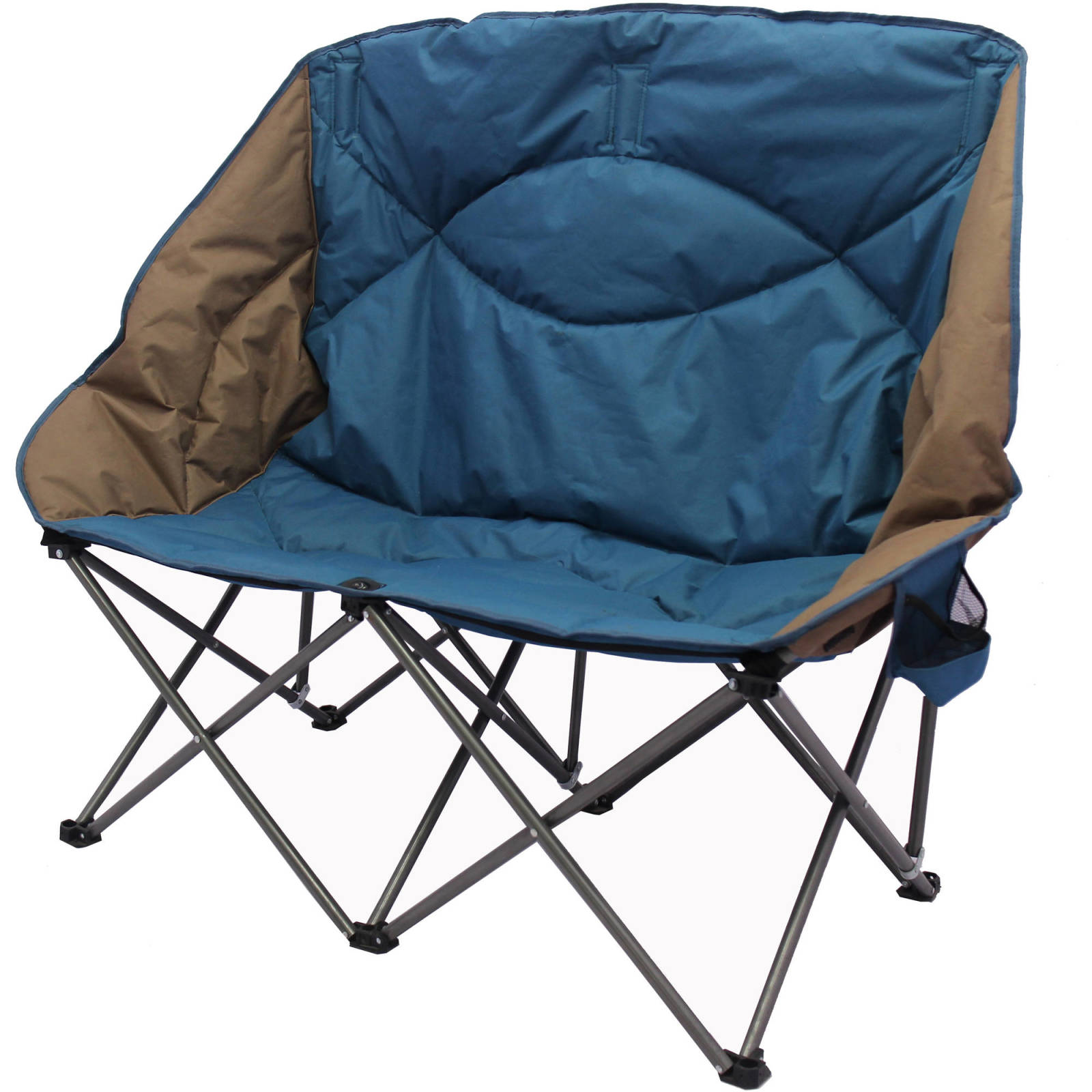Double Folding Camping Chair Portable Camp Beach Outdoor Loveseat