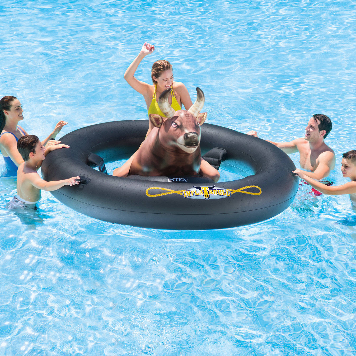 INTEX Giant Inflatabull Fun Bull Riding Inflatable Swimming Pool