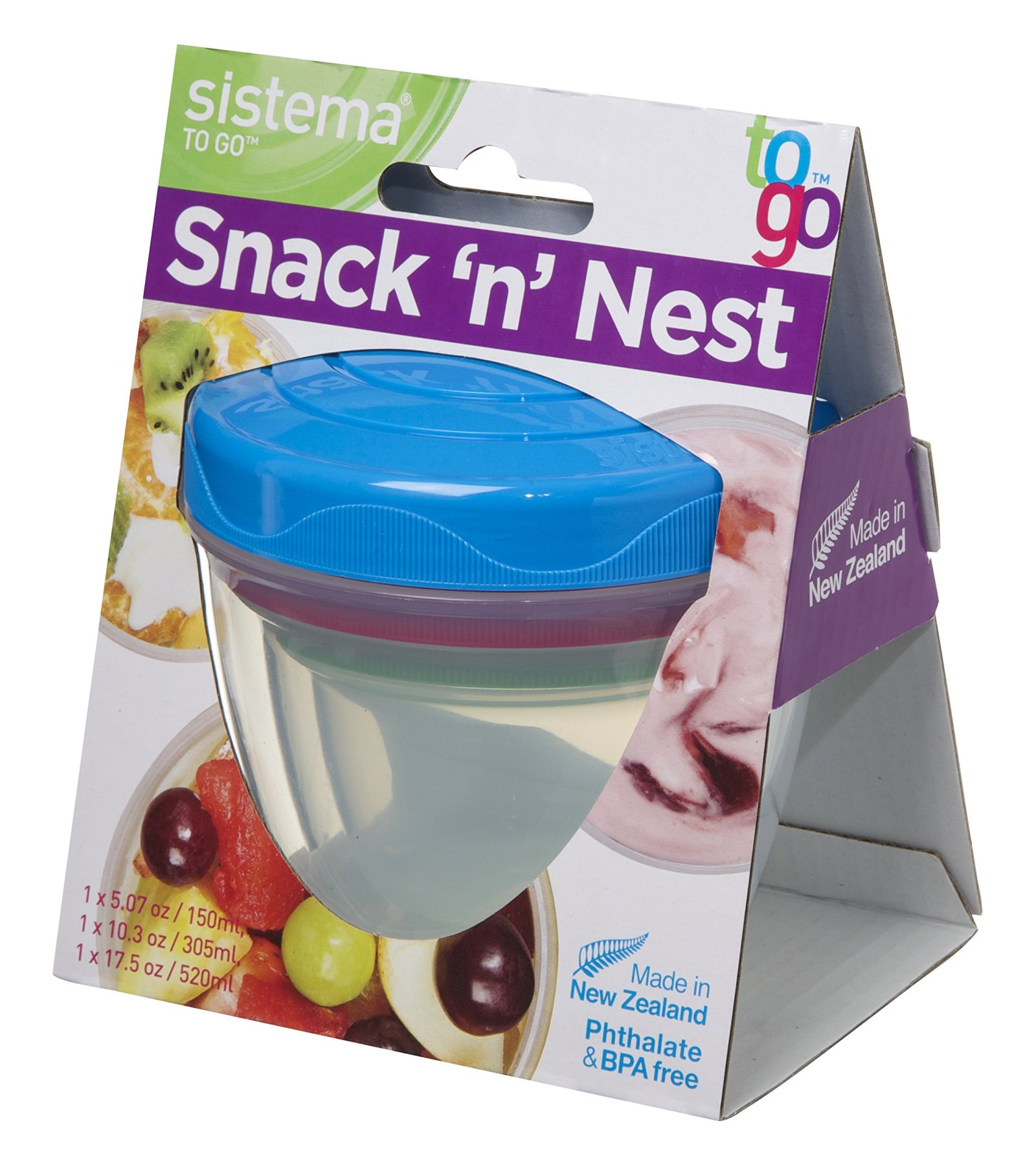 Sistema To Go Snack U0027nu0027 Nest   Food Storage Containers   Pack Of 3