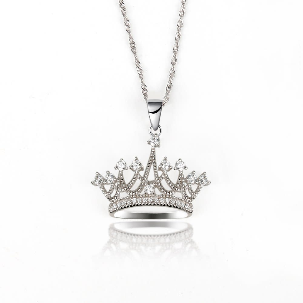 crown shad pendant necklace irish princess