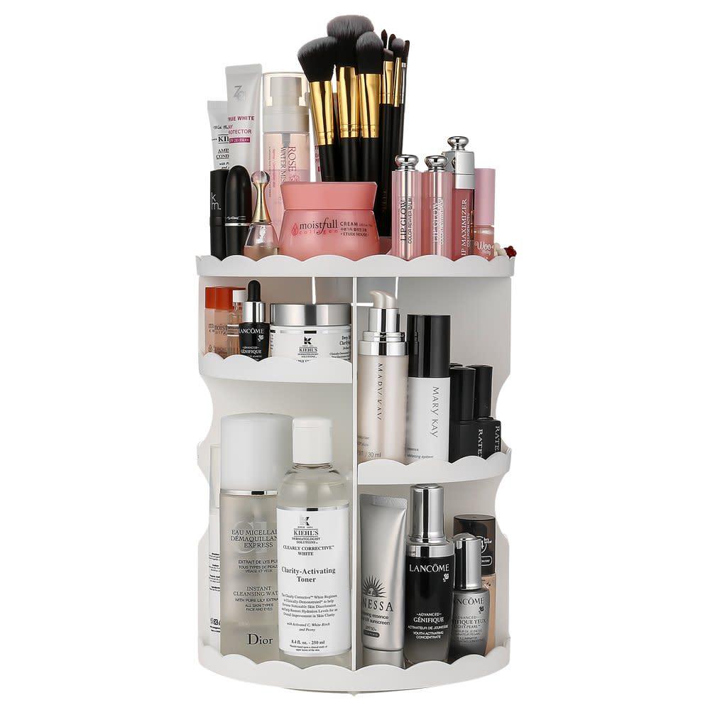 Makeup Organizer 360-Degree Rotating Cosmetic Storage Box Beauty Product Dorm  sc 1 st  eBay & Makeup Organizer 360-Degree Rotating Cosmetic Storage Box Beauty ...