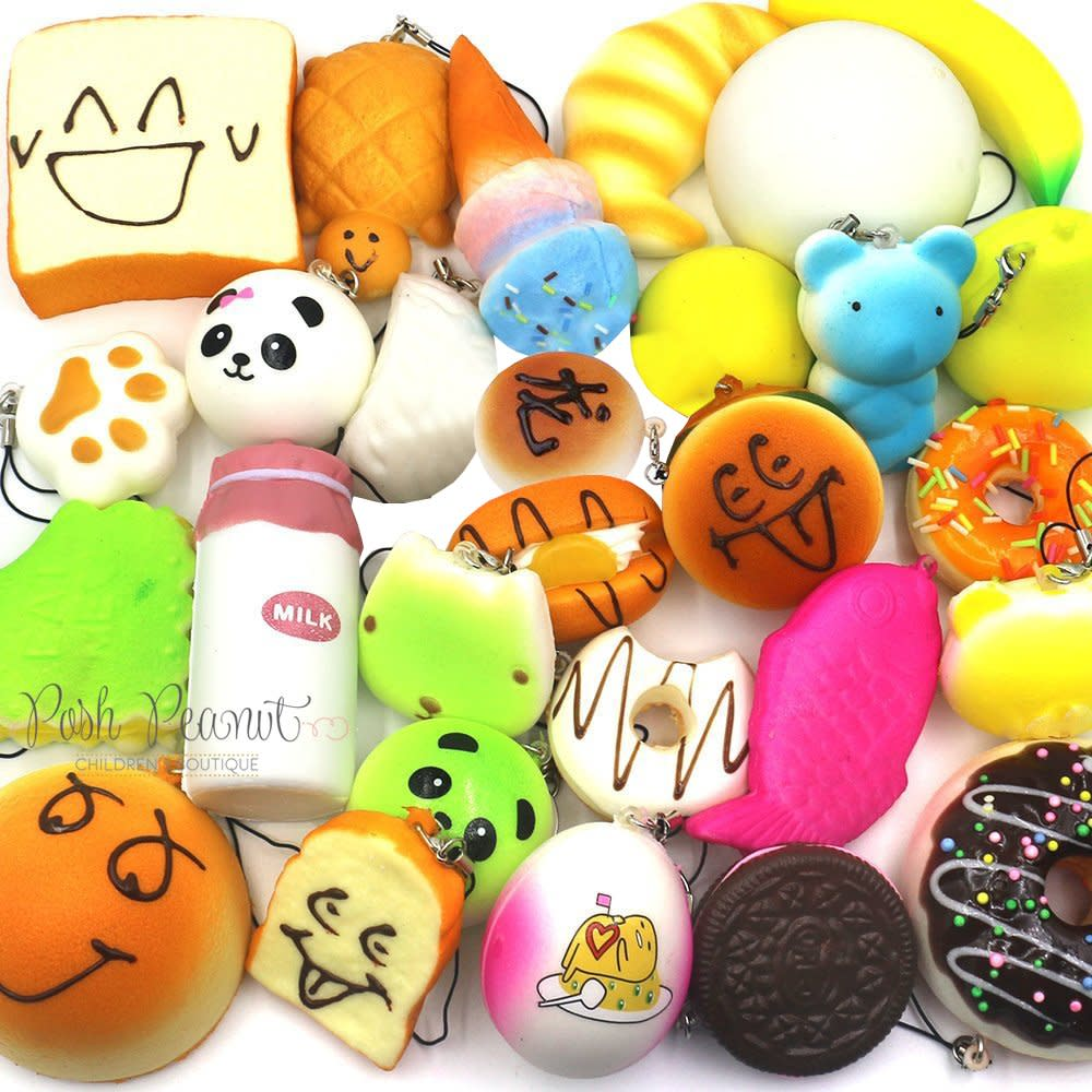 squishy all around all kinds kawaii squishies set of 10 kids toy new gift ebay. Black Bedroom Furniture Sets. Home Design Ideas