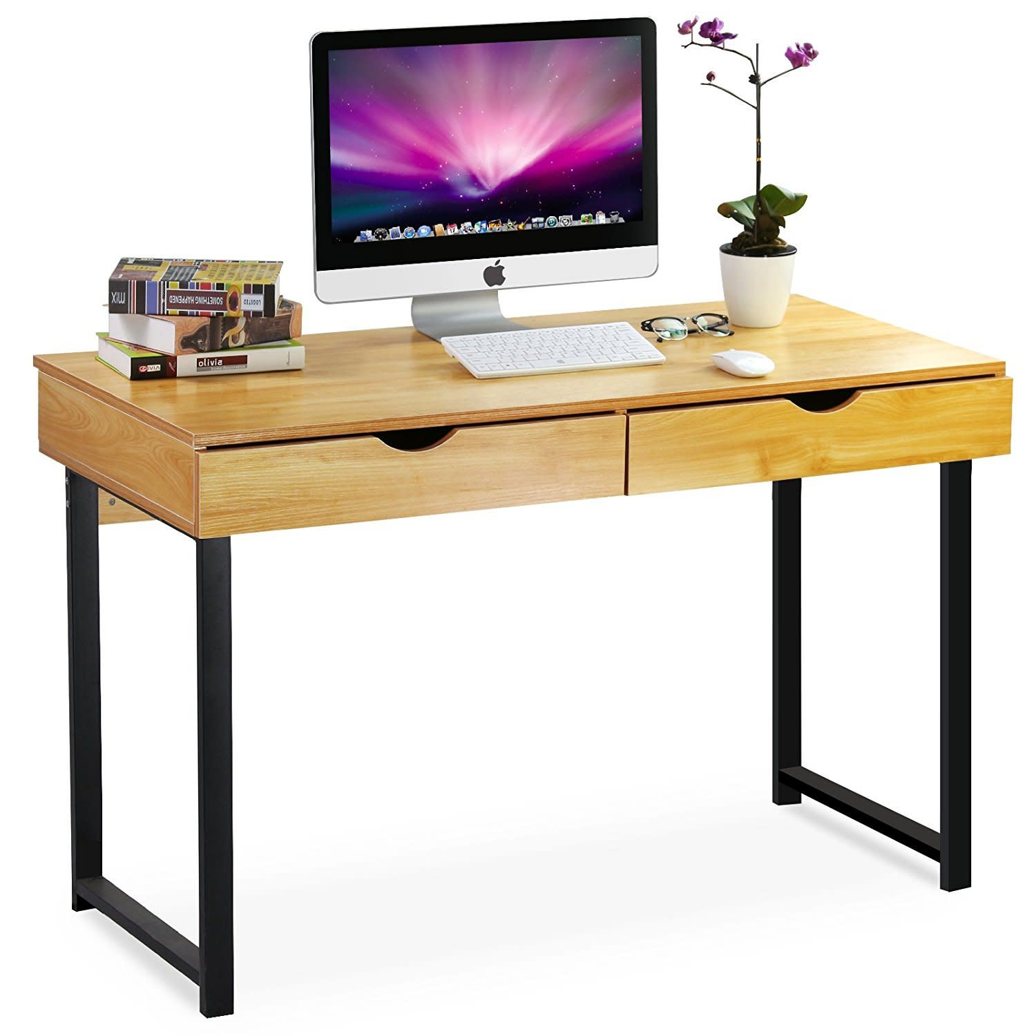 Home Office Furniture Modern Computer Large Wood Desk Study Write  # Muebles Pestana