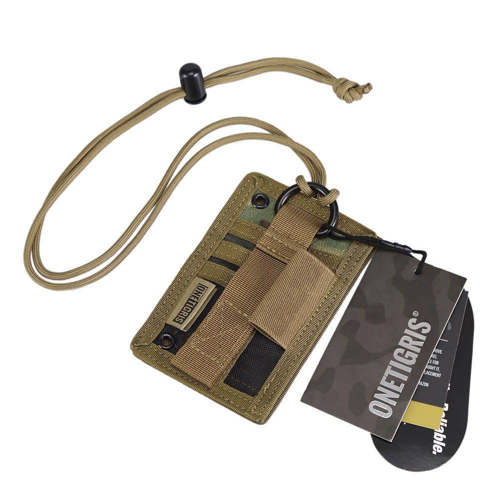 Tactical id card holder onetigris hook loop patch badge neck lanyard tactical id card holder onetigris hook loop patch badge neck lanyard key ring reheart Gallery