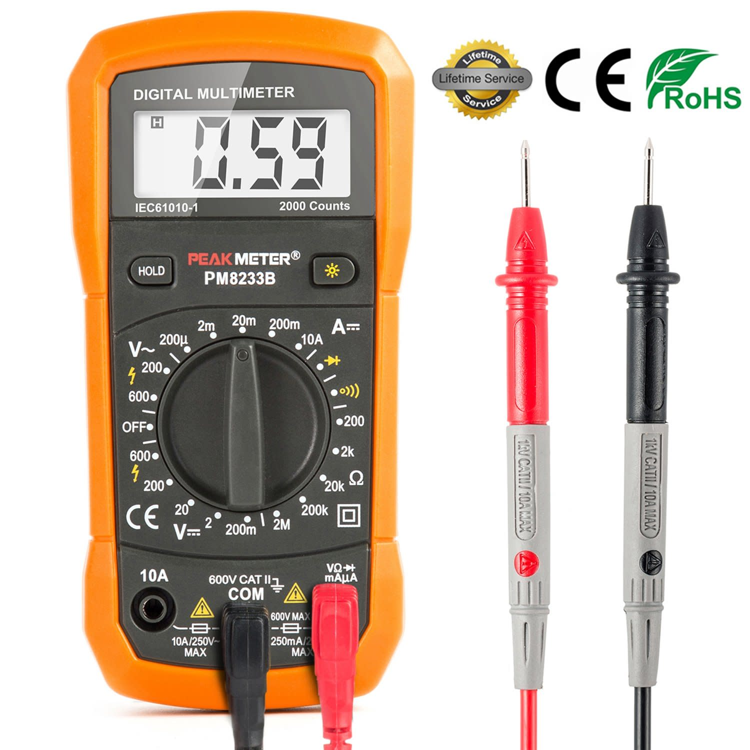 Simpson Electric Ac High Voltage Probe : Multimeter digital meter amp ohm voltmeter tester fluke