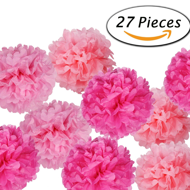 Tissue Paper Pom Poms Flowers For Wedding Birthday Party Decoration