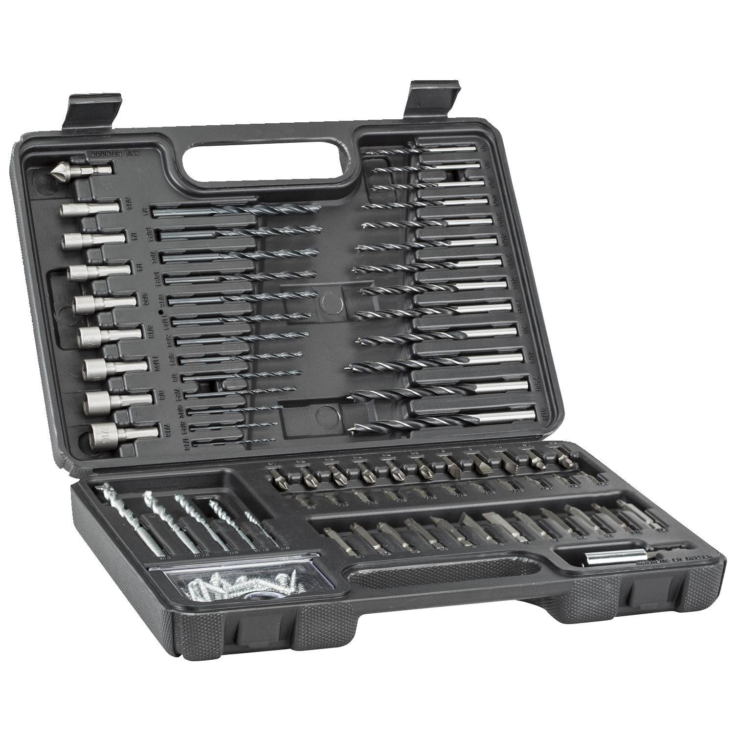 Black Decker Drill Bits Set Bit For Wood, Metal, Plastic And Masonry With Case