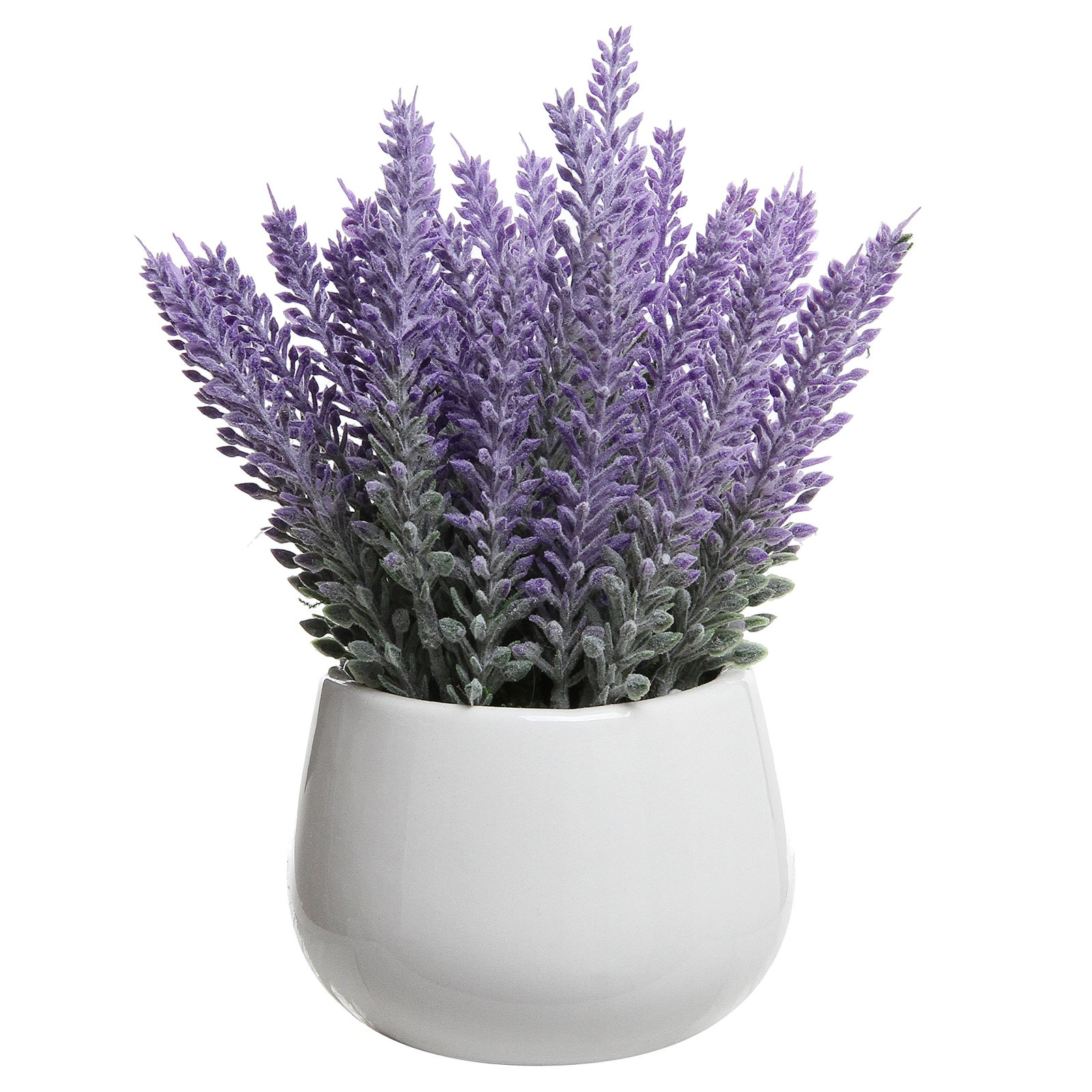 Lavender bouquet pot artificial flower ceramic spa