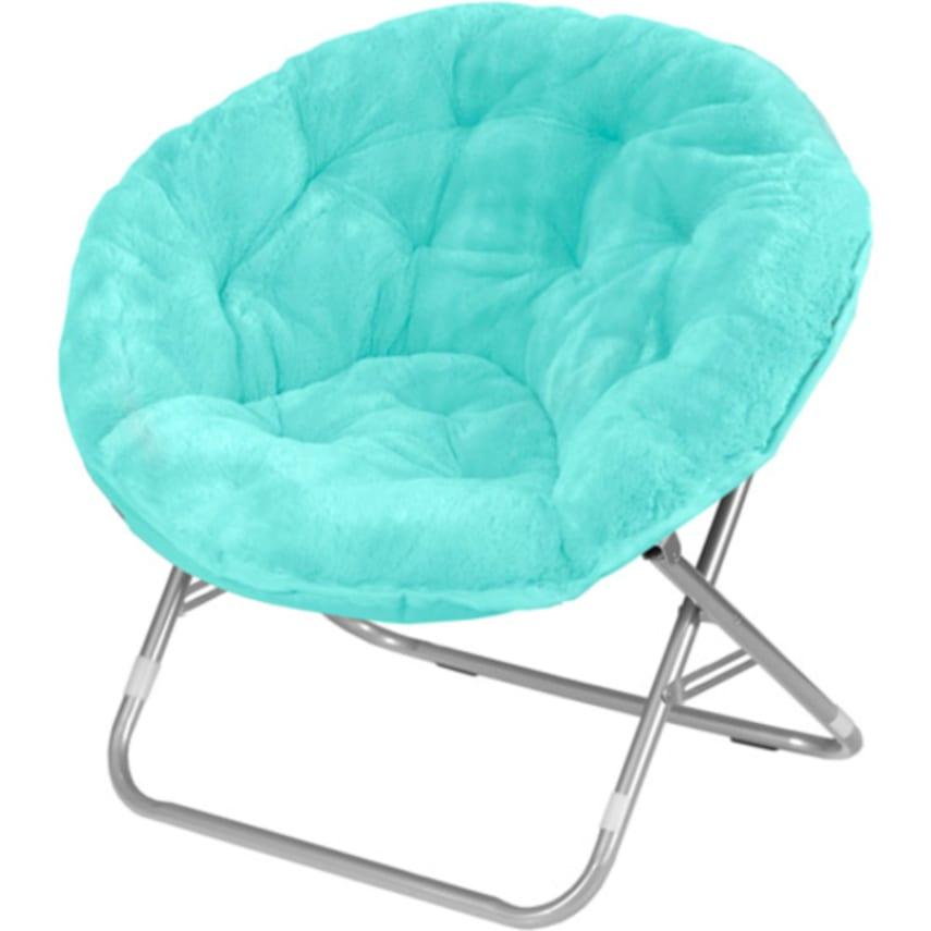 Moon Chair stylish folding saucer moon chair cozy round seat faux fur tv