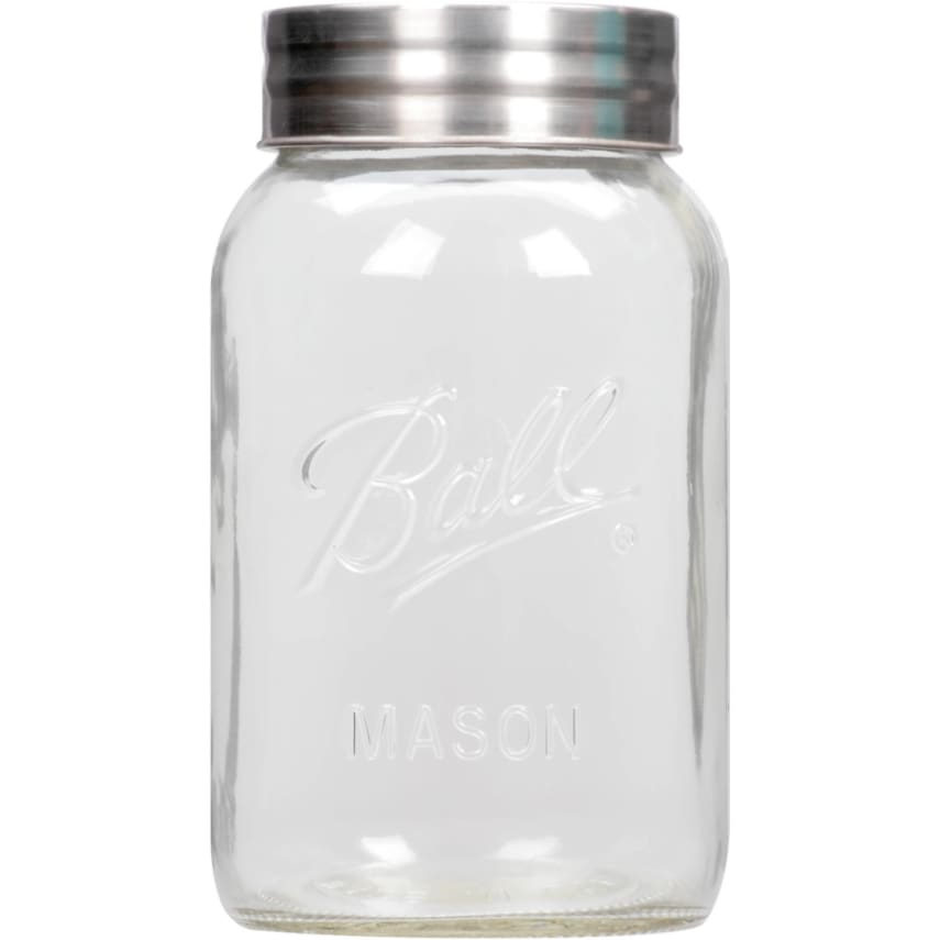 1 gallon large mason jar with lid big clear glass container canister ball new 14400700163 ebay. Black Bedroom Furniture Sets. Home Design Ideas