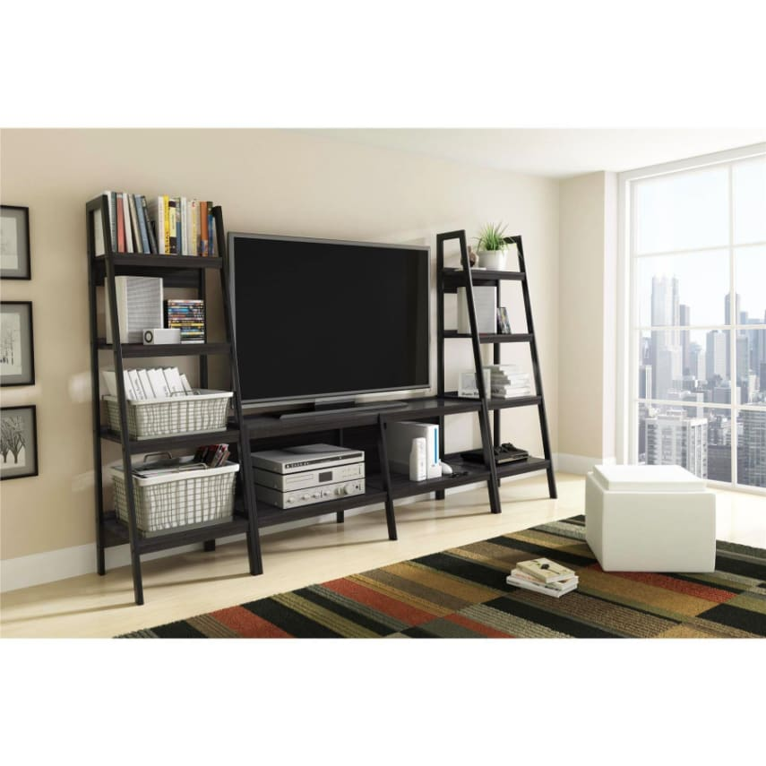 Bookshelves Living Room Set new altra metal ladder bookcase standing book shelf living room