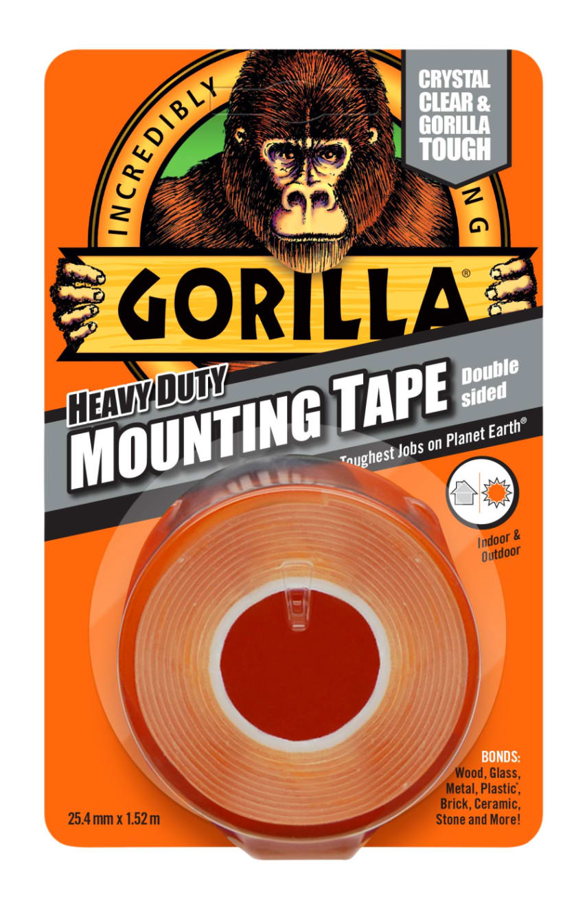 Gorilla Mounting Tape 1 5 M Heavy Duty Double Sided