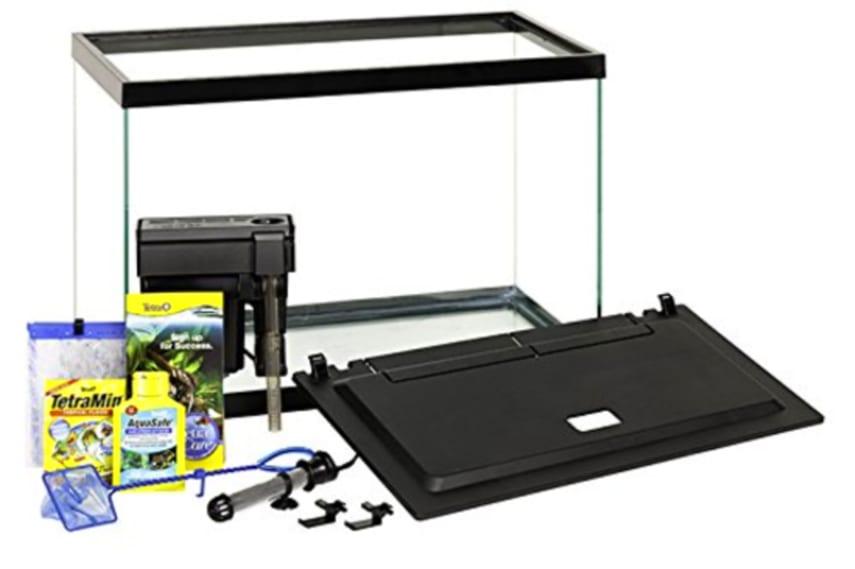 Bon Aquarium Kit Fish Tank 20 Gallon Glass Tetra LED