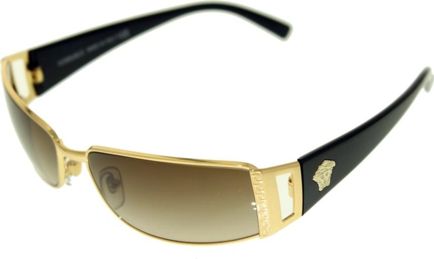 Authentic Italy Versace Sunglasses Men Pilot Aviator Crystal Gold ...