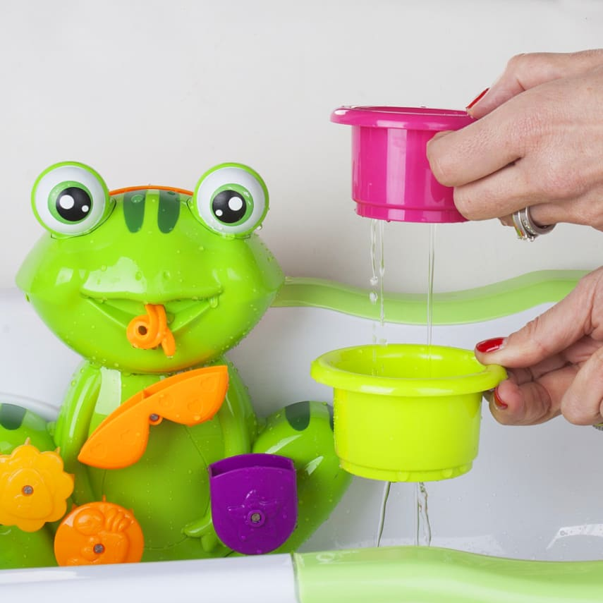 Zig Zag Kid Toddler Bath Tub Toy, Green Frog With 4 Stacking Cups | eBay