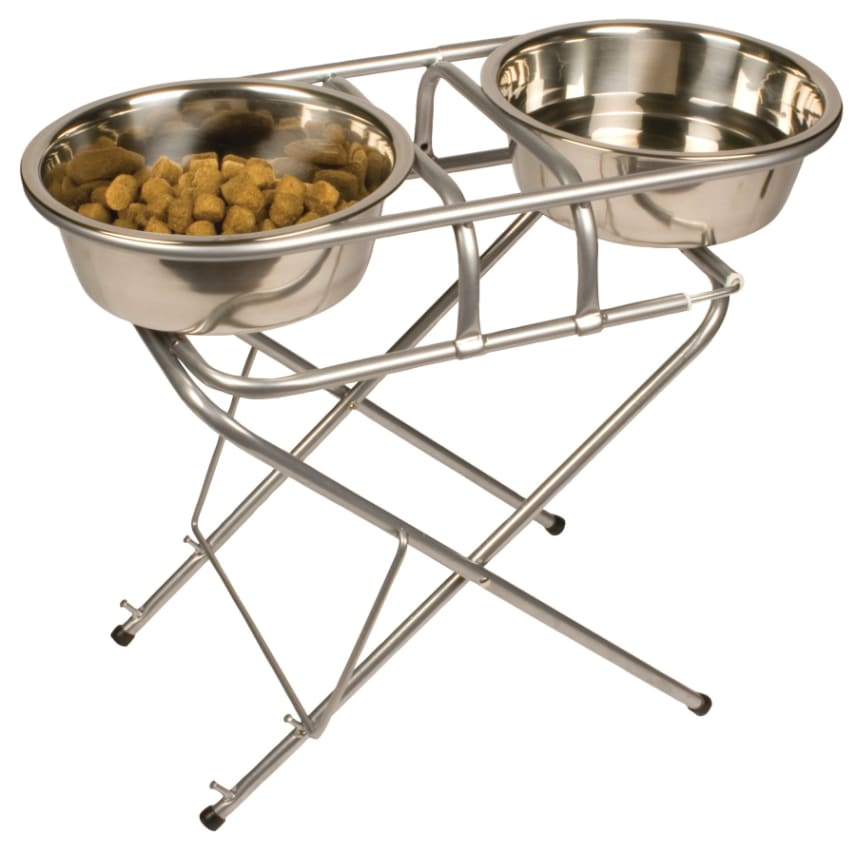 Dog Raised Feeder   Pet Zone Stainless Steel Adjustable Elevated Dog Bowl /stand