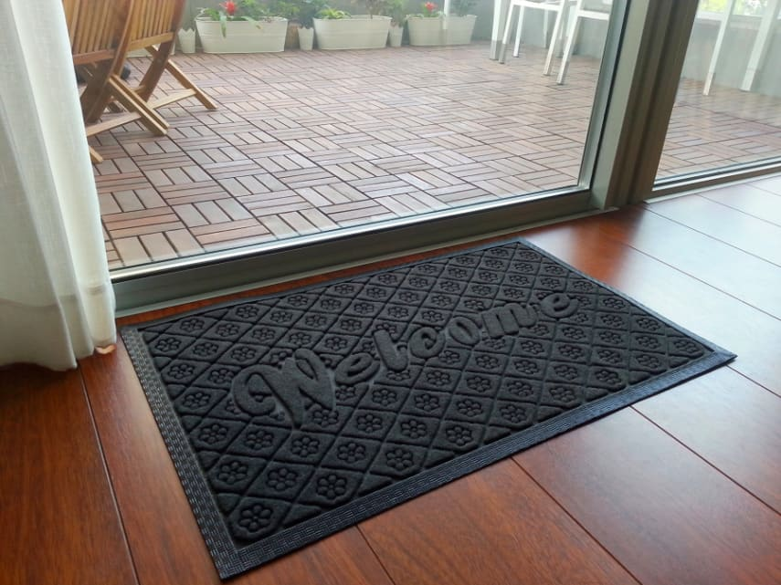Door Mat Floor Rug Welcome Dirt Mud Snow Entryway Front Rubber Garage  Doormat