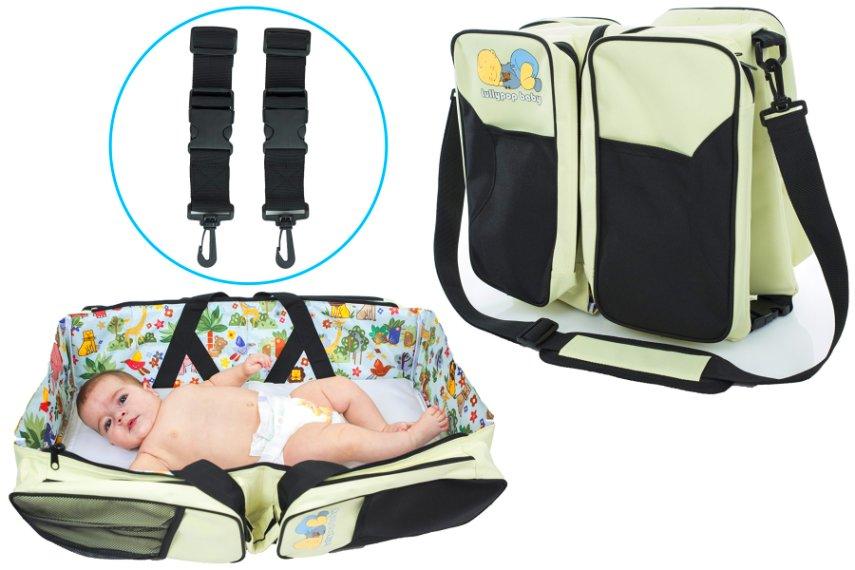 Original Lullypop Baby 3 in 1 Cream Color Changing Diaper Bag Travel Bassinet