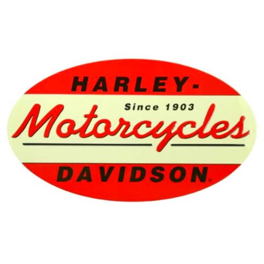 Harley Davidson Oval Metal Large Sign Top Quality Garage Bar Wall ...