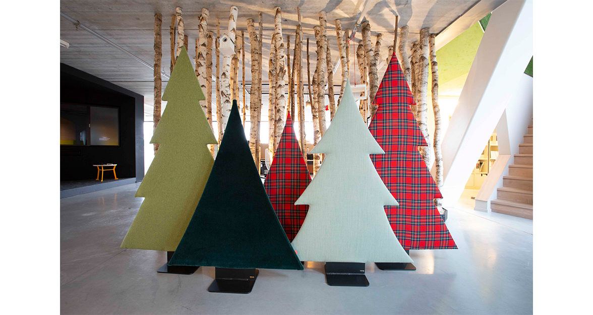 Christmas Trees in showroom