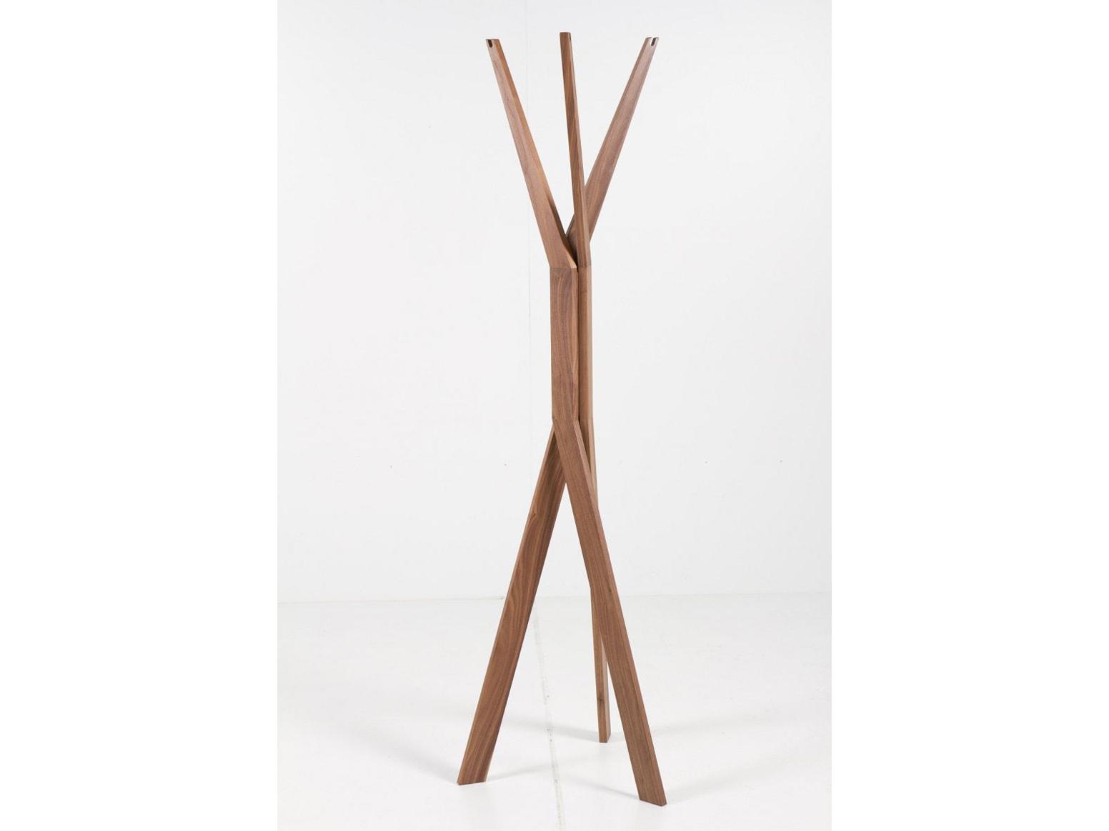 massief houten kapstok