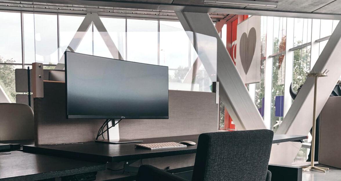 plexiglas opzetwand bureau kantoor