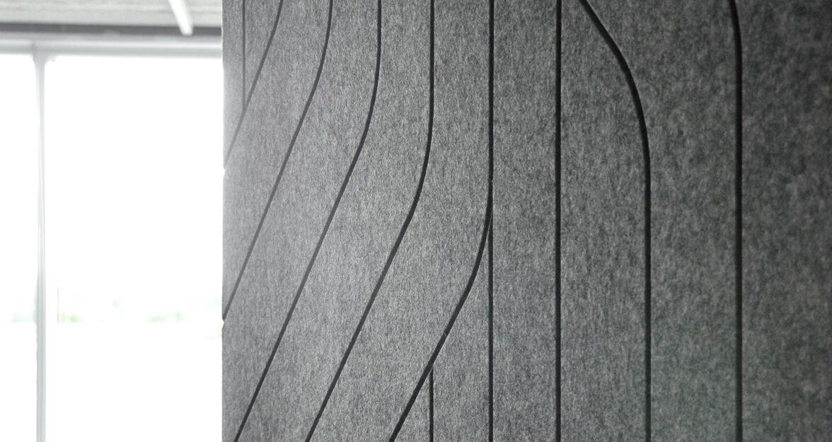 lijn gesneden in vilt