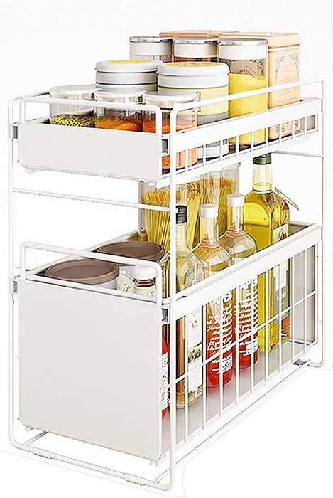Under-sink-sliding-organizer