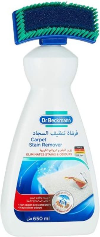 Carpet cleaner with brush