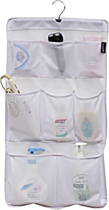 MISSLO Pockets Mesh Shower Organizer Hanging Caddy