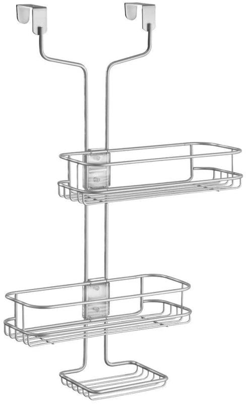 InterDesign Linea Adjustable Over Door Shower Caddy