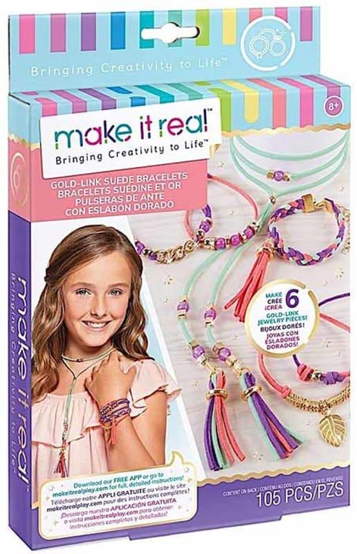 Gold-Link-Suede-Bracelets