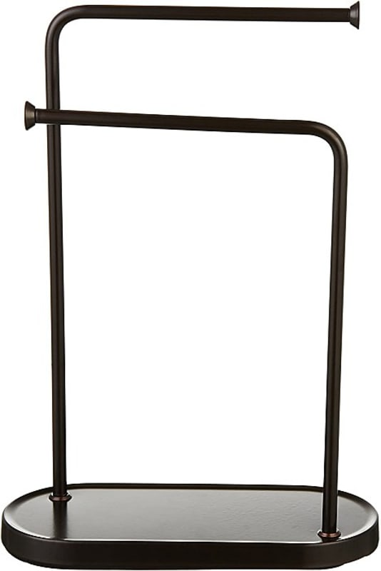 AmazonBasics Double-L Hand Towel and Accessories Stand