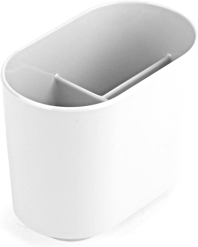 Umbra Step White Toothbrush Holder and Toothpaste Organizer