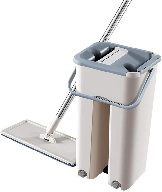 Cocity Microfiber Mop and Bucket System for Floor Cleaning