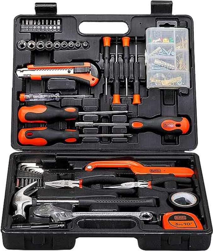 Black+Decker-126-Pieces-Hand-Tool-Kit-in-Kitbox-for-Home-DIY-&-Professional-Use