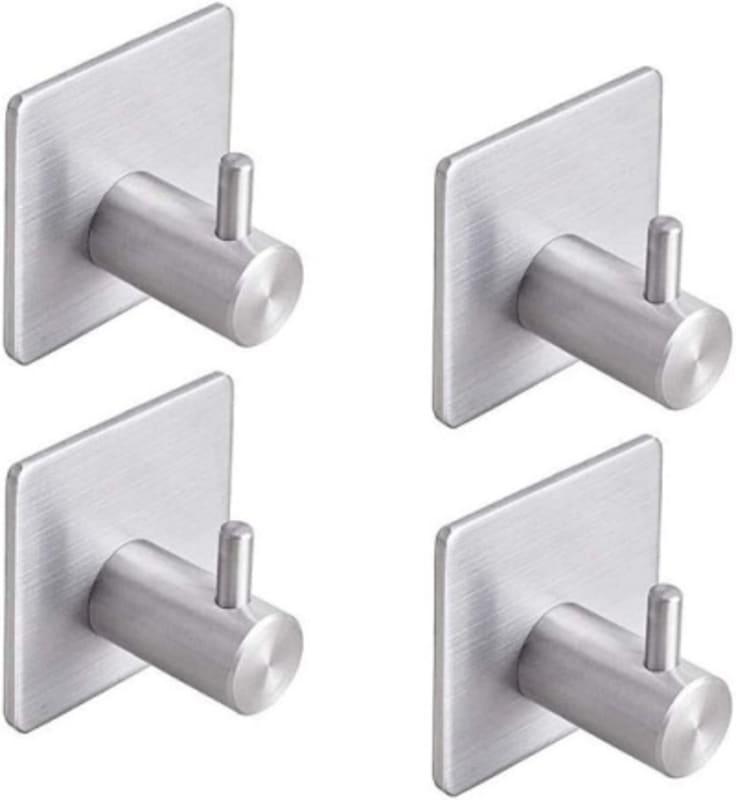 YOMYM Adhesive Bathroom Towel Shower Hooks
