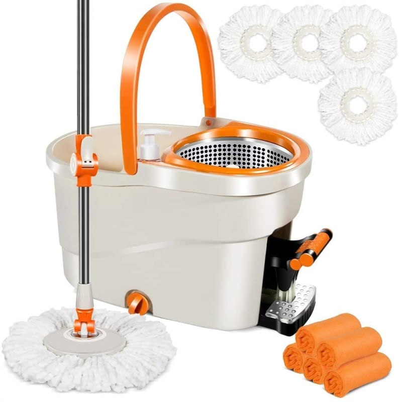 Masthome Spin Mop with Foot Pedal Bucket