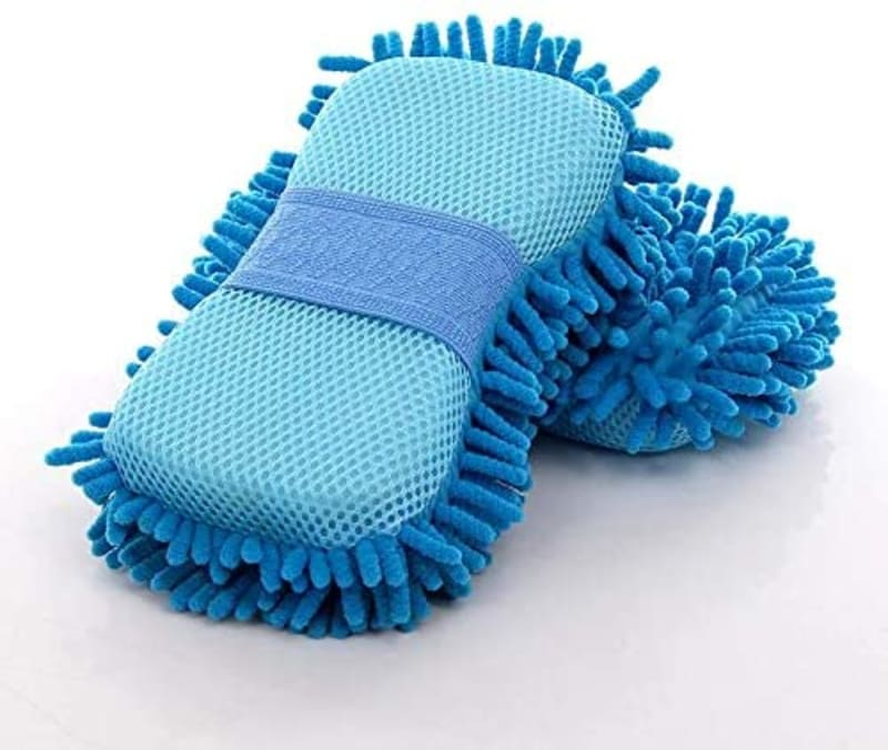 Car Wash Glove Car Hand Soft Towel Microfiber Chenille Car Cleaning Sponge Block Car Washing Supplies