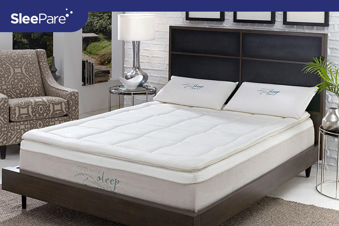 Nature's Sleep Gel Infused Memory Foam Pillow Top