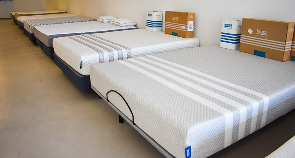Mattress Variety in SleePare Showroom