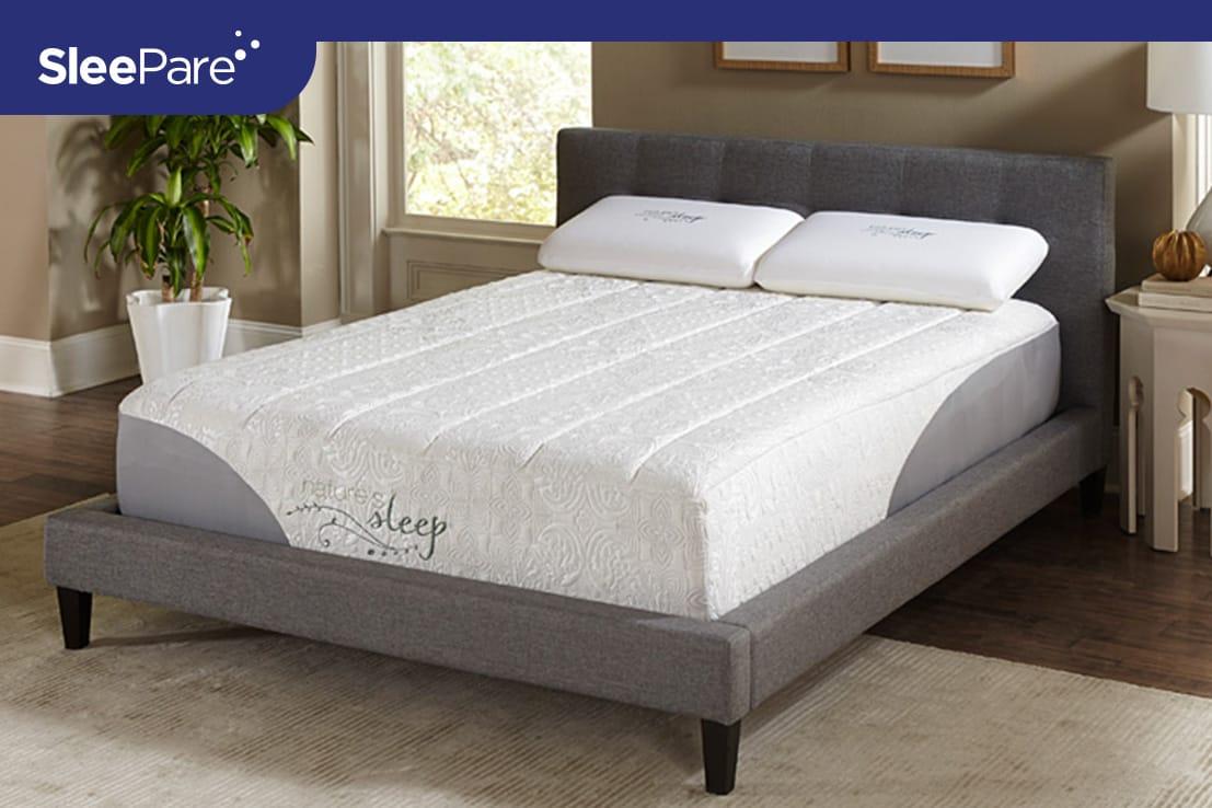 Natures Sleep Gold Gel Memory Foam Mattress Review Sleepare