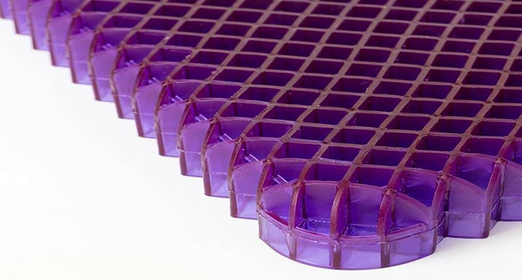 Purple Hyper-Elastic Polymer Grid