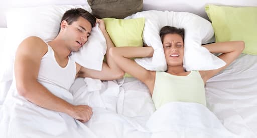 Snorers sleeps better on their left side