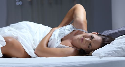 Sleeping on sides causes back and neck pain