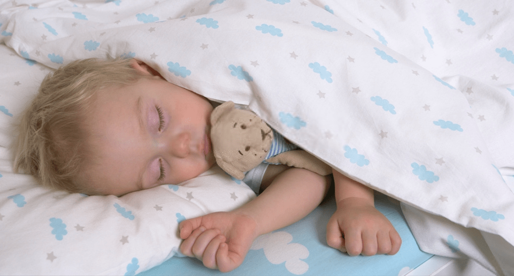 Baby in REM sleep.