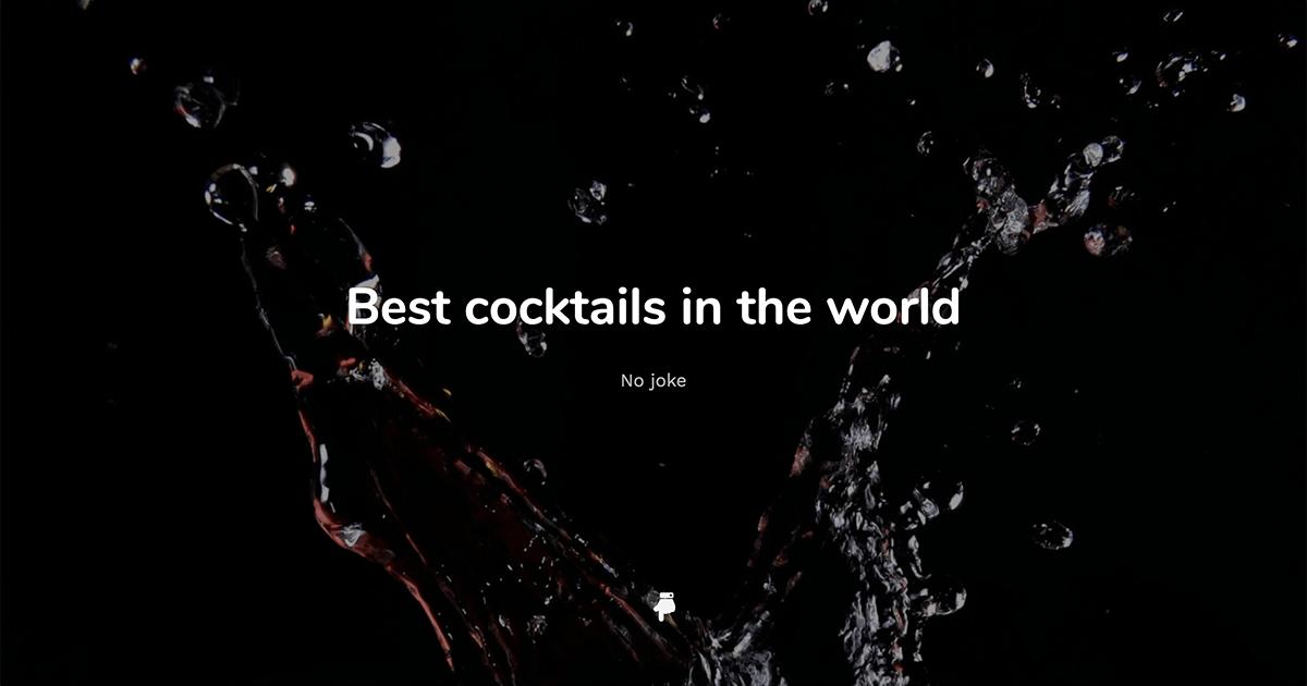 Image d'illustration du site The Best Cocktails in the World