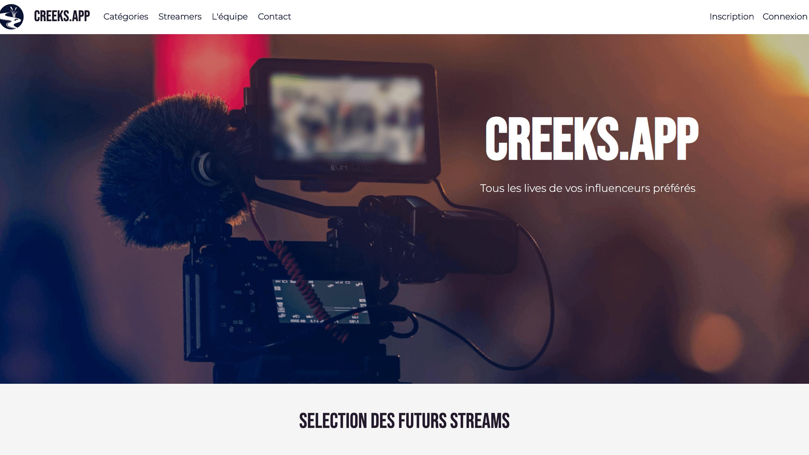 Image d'illustration du site CreeksApp - Tous les lives de vos influenceurs préférés