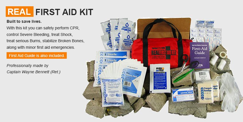 First Aid Kit Contents List And Their Uses With Pictures Disaster Survival Skills